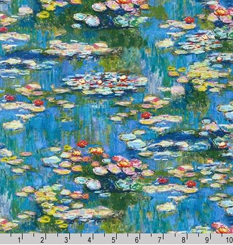 Claude Monet 17078 246 Water Blue Lillies Kaufman