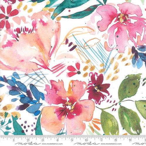 Brightly Blooming 8430 11D Pink Watercolor Moda CREATE JOY PROJECT