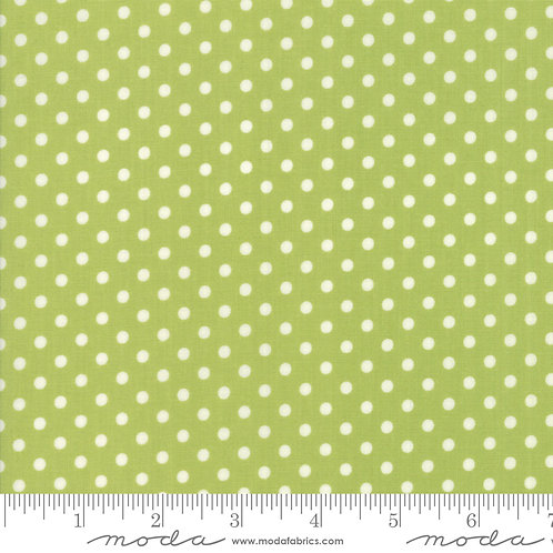 Little Snippets 55185 14 Green White Dots Moda Bonnie & Camille