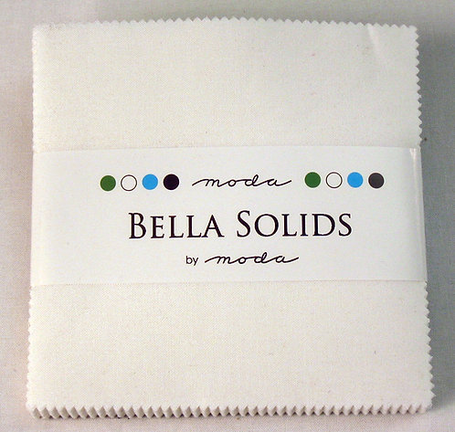 Bella Solid White Moda Charm Pack