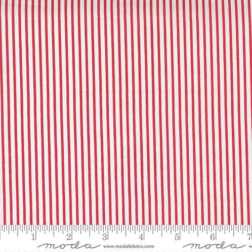 Christmas Morning 5148 16 Red Stripe Moda Lella Boutique