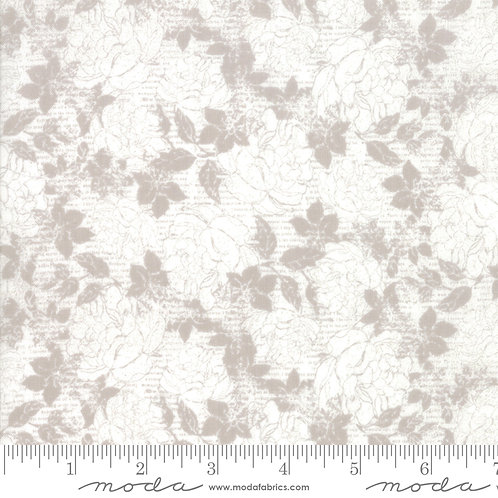 Stiletto 30612 25 White Floral Moda Basic Grey