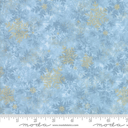 Forest Frost Glitter 33523 13MG  Blue Gold Snowflakes