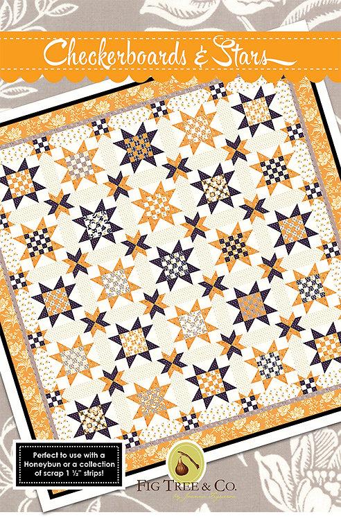 Fig Tree CHECKERBOARD & STARS Pattern