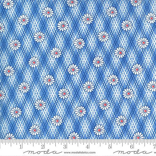 30's Playtime 33593  16 Blue Floral Moda Chloe's Closet