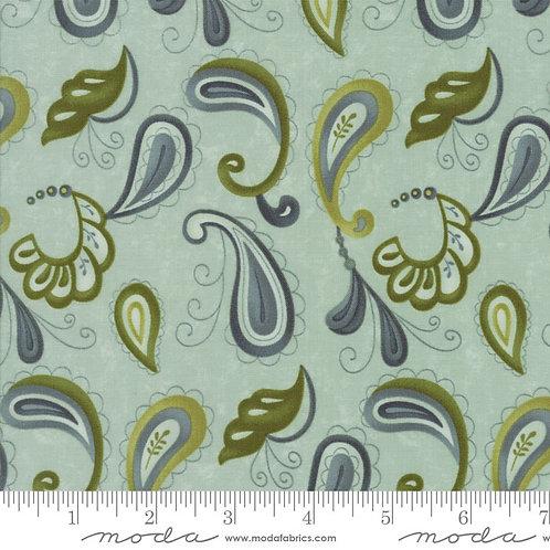 Plush 17893 12 Green Paisley Moda Sandy Gervais