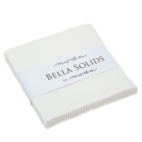 Bella Solid Off White Moda Charm Pack