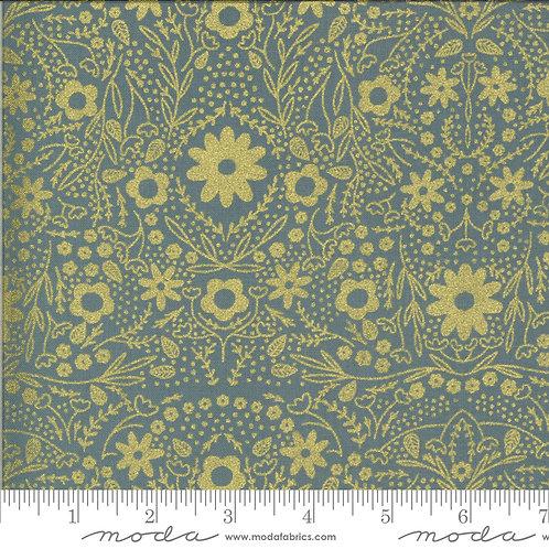 Dwell in Possibility 48312 32M Gray Gold Metallic Moda Gingiber