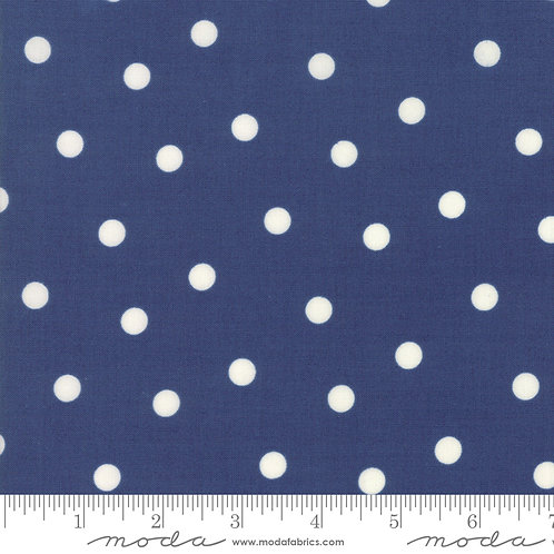 Mackinac Island 14896 15 Navy Blue Polka Dots Moda