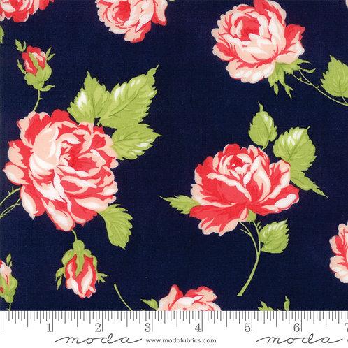 Smitten 55170 15 Navy Pink Floral Moda Bonnie & Camille