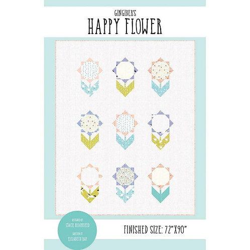 Gingiber HAPPY FLOWER Layer Cake Pattern