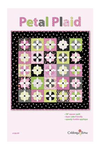 Cabbage Rose Quilts PETAL PLAID Layer Cake Pattern