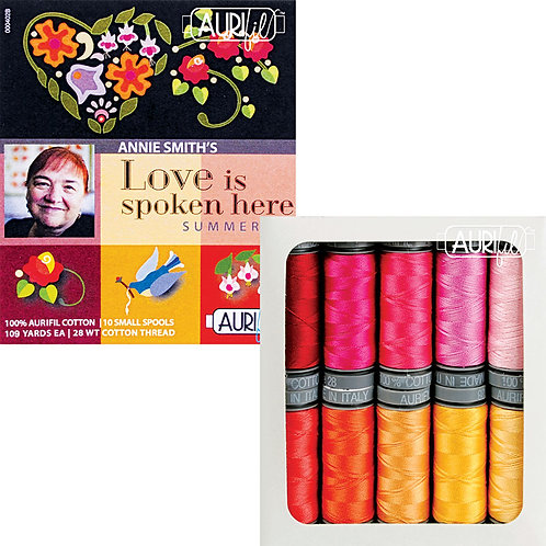 Aurifil Thread LOVE IS SPOKEN 10 spools 28wt