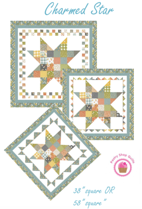 CHARMED STAR Charm Quilt Pattern