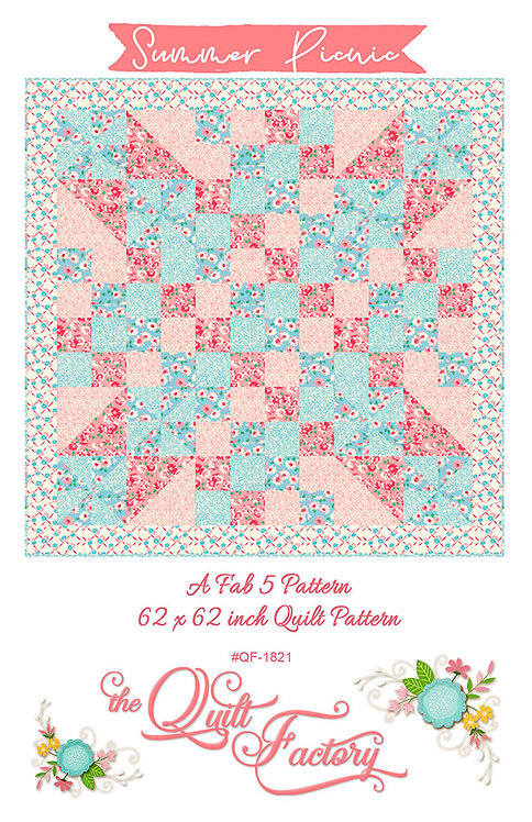Quilt Factory SUMMER PICNIC Five ~ 1 Yard Pattern