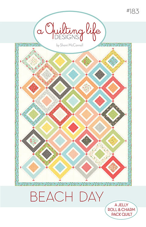 A Quilting Life BEACH DAY Jelly Roll + Charm Pattern