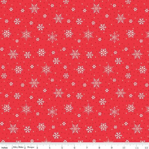 Snowed In C10815R Snowflakes Riley Blake