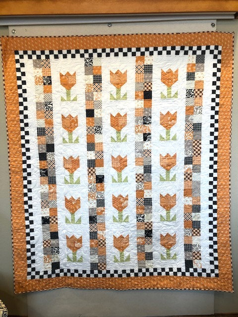 CHECKERBOARD TULIPS Quilt KIT Moda Fig Tree