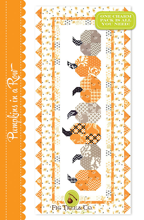 Fig Tree PUMPKINS IN A ROW Table Runner Pattern