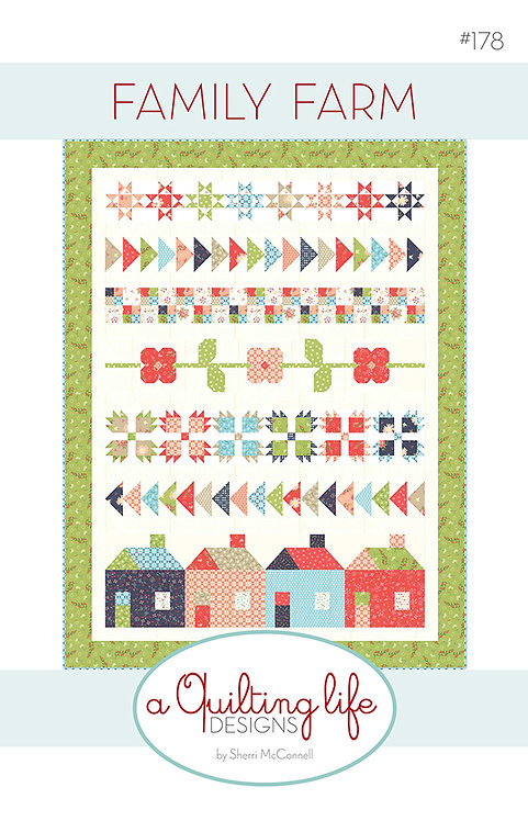 A Quilting Life FAMILY FARM Fat Eighth Pattern