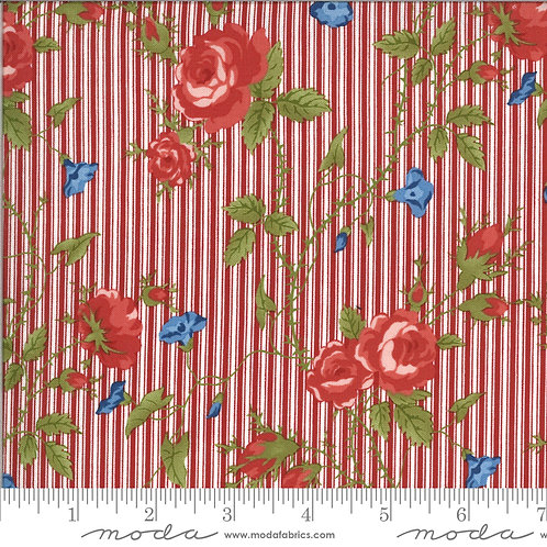 Harbor Springs 14900 15 Red Floral Striped Minick & Simpson