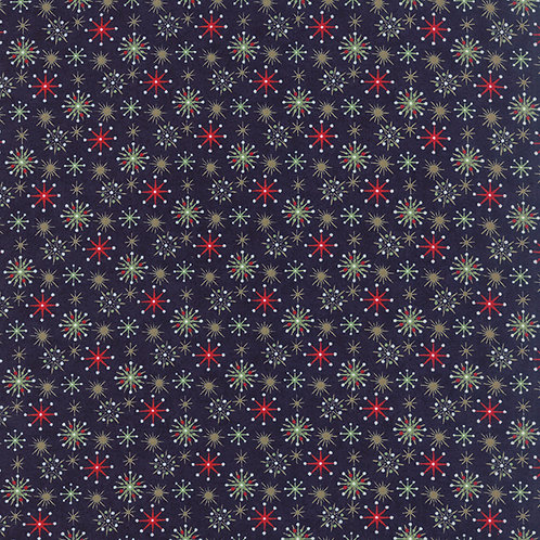 25th & Pine 30366 15 Navy Snowflakes Moda Basic Grey