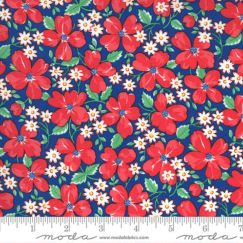 30's Playtime 33590 17 Blue Red Floral