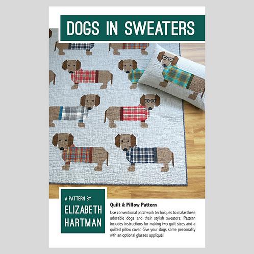 Elizabeth Hartman DOGS IN SWEATERS Quilt Pattern