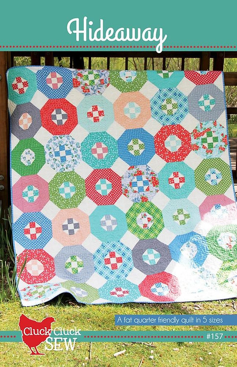 Cluck Cluck Sew HIDEAWAY Layer Cake Fat Quarter Pattern