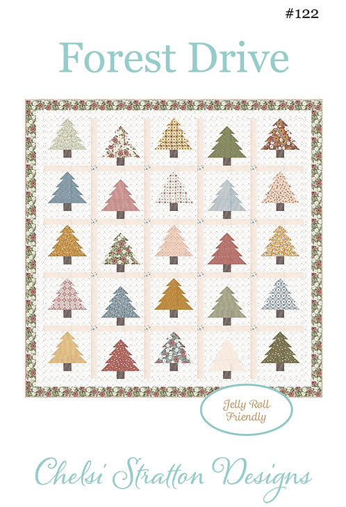 A Quilting Life FOREST DRIVE Jelly Roll Pattern