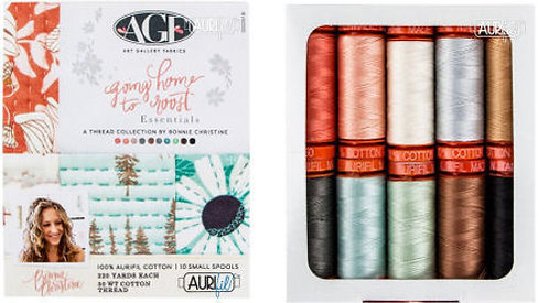 Aurifil Thread GOING HOME TO ROOST 10 spools 50wt