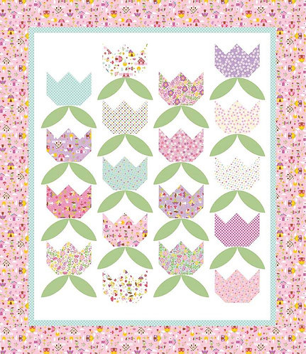 FAIRY BLOSSOMS Layer Cake Quilt Pattern
