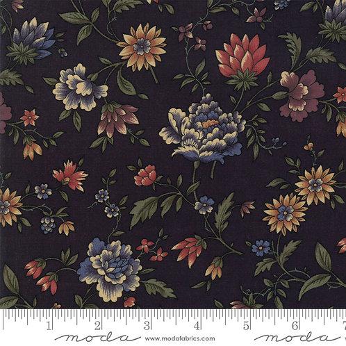 Through the Years 9620 19 Black Floral Moda Kansas Troubles