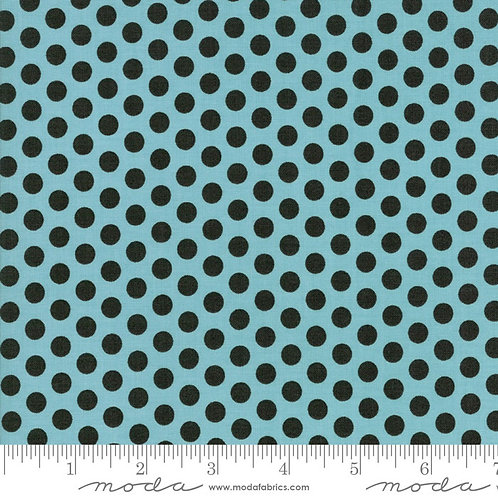 Hometown Christmas 5666 16 Teal Black Dots Moda Sweetwater