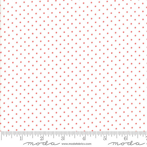 CATALINA 20376 22 White Red Polka Dots Moda FIG TREE Floral