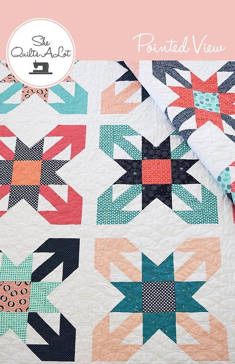 She Quilts A Lot POINTED VIEW Fat Quarter Pattern