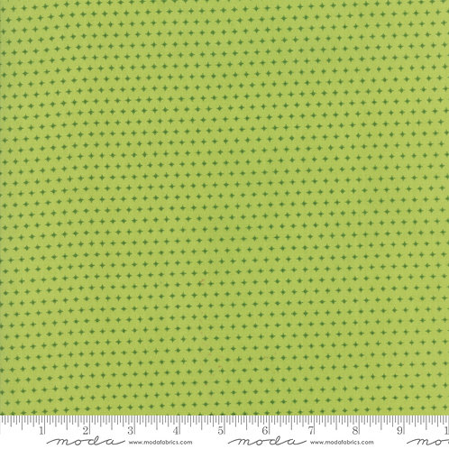 Mama's Cottage 24057 23 LIme Green Stars Moda April Rosenthal