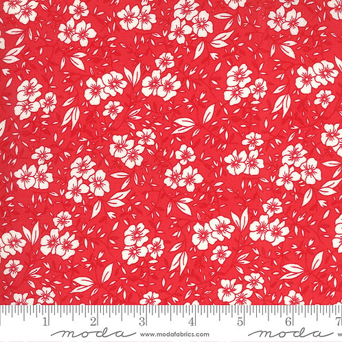 30's Playtime 33592 28 Red Floral Moda Chloe's Closet