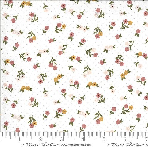 Folktale 5123 11 White Floral Moda Lella Boutique