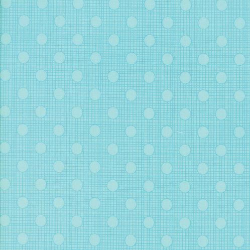 Wing & Leaf 10067 14 Aqua Turquoise Dots Moda Gina Martin
