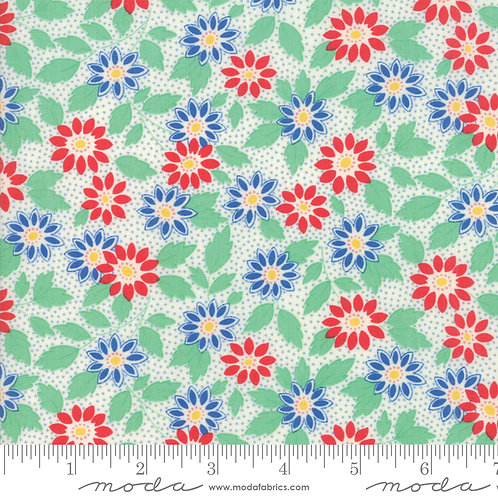 30's Playtime 2018 33350 22 Green Red Floral