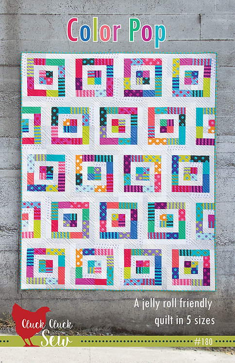 Cluck Cluck Sew COLOR POP Jelly Roll Pattern