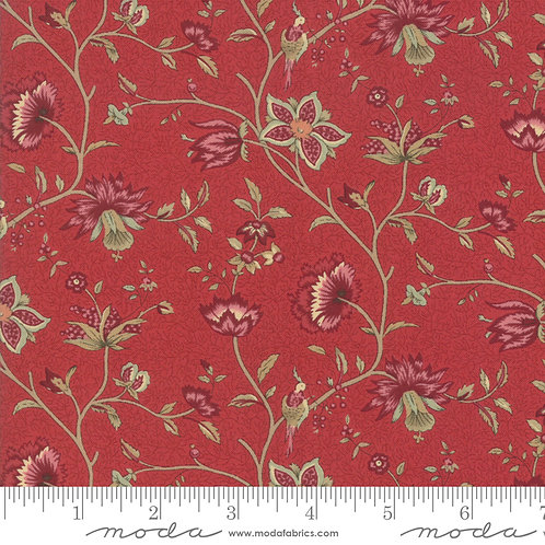 Le Beau Papillon 13861 11 Red Beige Floral Moda French Genera