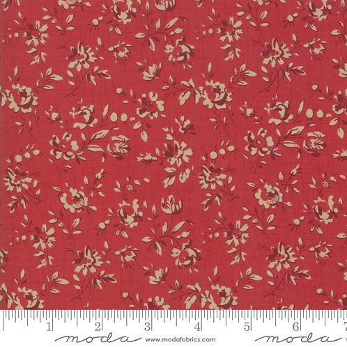 Le Beau Papillon 13867 12 Red Beige Floral Moda French Genera