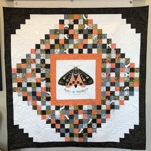 DWELL IN POSSIBILITIES Charm Panel Quilt KIT Moda Gingiber