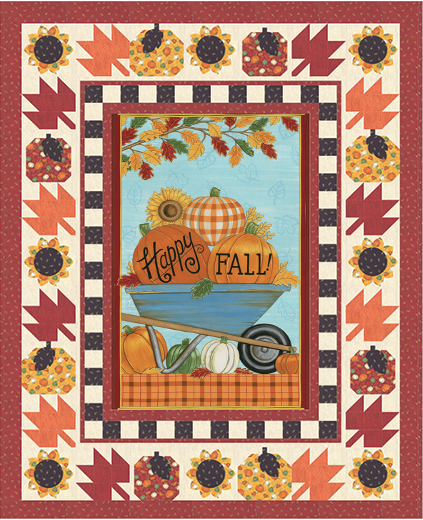 HAPPY FALL Pumpkin Delivery Quilt Kit Moda Deb Strain