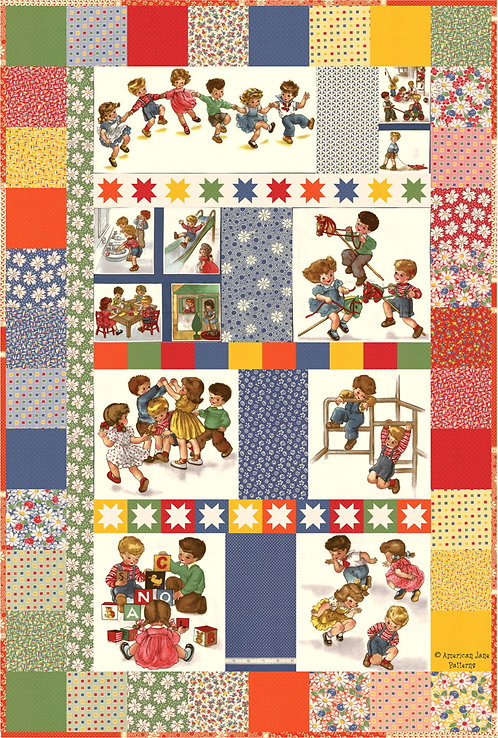 American Jane PLAY ALL DAY Moda Charm Pattern