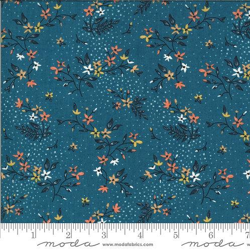Cider 30642 17 Blue Floral Moda BASIC GREY