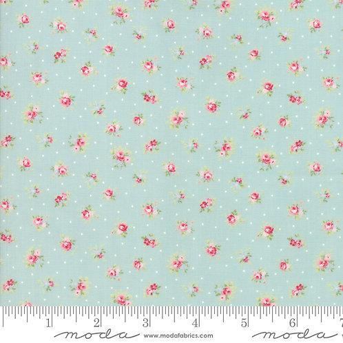 Amberley 18671 13 Aqua Pond Moda Brenda Riddle Floral