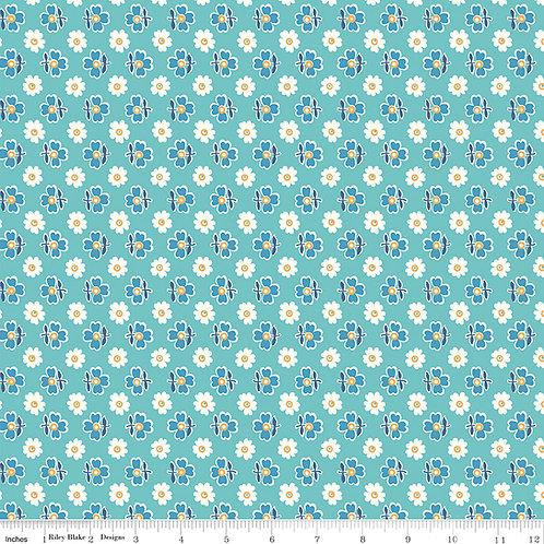 Flea Market C10216C Blue Lori Holt  Riley Blake